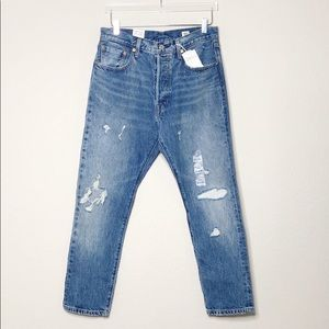*LOWEST* NWT Levi's 501 White Oak Cone Denim Jeans